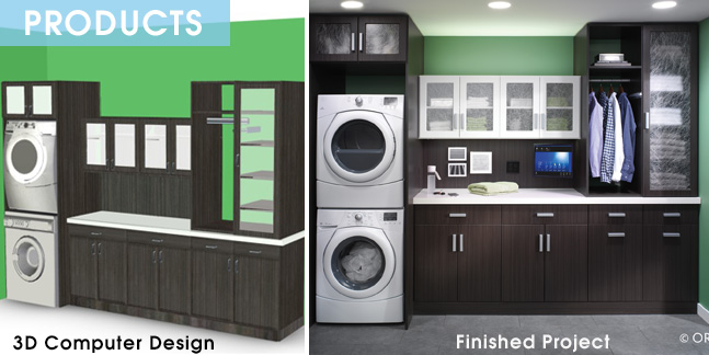 3D design and Finish Project Laundry Room